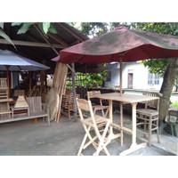 Set Meja Kursi Bar Payung Taman Jati Mebel Jepara