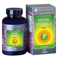Wellness Natural Vitamin E 400 I.U. - 150 Soft - Suplemen Vitamin E
