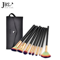 JBS New York Kuas Makeup Brush 8 Set - Make Up Set Dompet Kuas