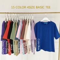 Korea New Solid Color Women's Basic Short Sleeved T-shirt 15 Colors