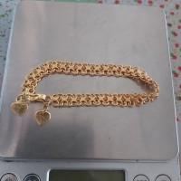 Gelang emas model nori double 24k 7 Gram