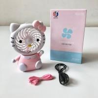 Kipas Angin Mini Lampu Led Karakter Hellokity