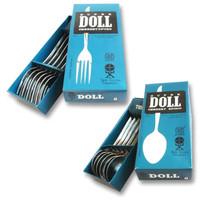 Super doll Sendok Garpu makan stainless steel - 12 pcs