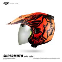 Jpx Supermoto Wild Rider Fluorescent Red Doff size XL