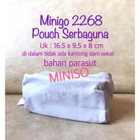 TP0128MN Minigo 2268 Pouch Serbaguna Miniso Tas Kosmetik Pencil Case