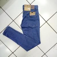 Celana jeans panjang skinny, slimfit pria