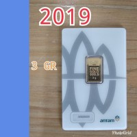Emas Antam Logam Mulia 3 gram 2018 Kemasan Press