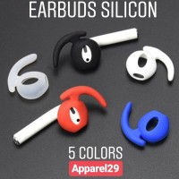 AirPods EarPods Soft Silicone Antislip Ear Cover Hook Earbuds Tips