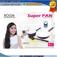 SUPER PAN SET Purple ISI 5Piece (PANCI SET SUPERPAN Original BOLDe)