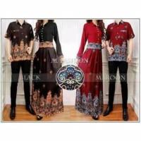 Gamis Couple Setelan Batik Elegan Baju Pasangan Keluarga Muslim