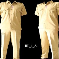 kemeja formal pria Seragam PNS BL_1_A - Cokelat Muda, M Limited