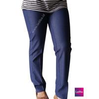 GROSIR!! Celana Legging Jeans Warna Navy Size XL high quality
