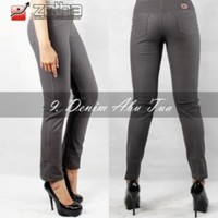 GROSIR!! Celana Legging Jeans Warna Abu Tua Size M high quality A