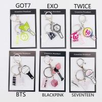 Gantungan Kunci Kpop BTS bt21 GOT7 BLACKPINK TWICE EXO Bahan Akrilik