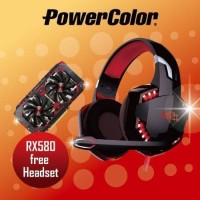 LIMITED PROMO VGA Powercolor RX580 FREE Exclusive Headset Red Devil