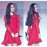 dress / dress brukat / brukat / brokat / dress korea