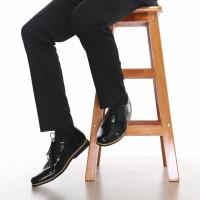 Sepatu Pantofel Pria Kerja Formal Mewah Elegan Boston Swansea Hitam