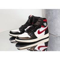 Sepatu Nike Air Jordan 1 Retro High OG Gym Red Premium Original