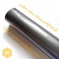 stiker skotlet karbon sticker carbon motor mobil ukuran 45cm x 50 cm