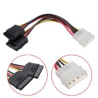 Terlaris 4 Pin IDE Molex To ATA SATA Y Splitter Hard Drive Power