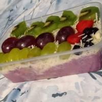 Blue Salad Buah 650ml Saus Blueberry Asli