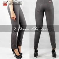 GROSIR TERLARIS Celana Legging Jeans Warna Abu Tua Terbaru