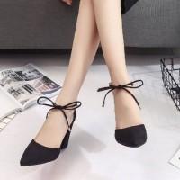 sepatu hak tali pita kecil heels
