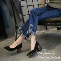 sepatu hak polos heels hak tahu