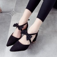 sepatu hak tali variasi pita heels