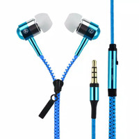 Headset Zipper Earphone Seleting Resleting Bass Handsfree + Mic