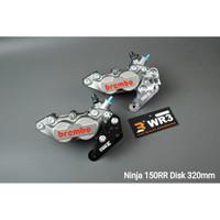 Breket Kaliper WR3 With Brembo 4P Kawasaki Ninja 150 RR Disc 320mm