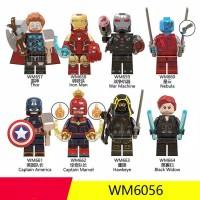 8PC lego kw The Avengers THOR/IRON MAN/CAPTAIN AMERICA/Captain Marvel