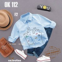 Setelan Kemeja Blue dan Jeans Our Kiddos Setelan baju anak import