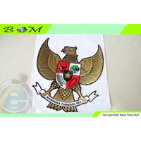 stiker sticker gambar lambang negara burung garuda besar gold