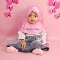 Bianca Baby Set - Baju Muslim Balita Kekinian - Dress New Born sd 1th