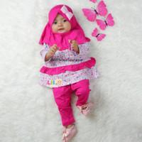Ainda Baby Set - Baju New Born Kekinian - Baju Muslim Balita Size 1 th