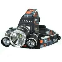 paket headlamp cree XM-L T6 5000 lumens senter kepala 18650+kabel usb