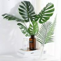 D04 Daun Plastik Philodendron Monstera daun monstera dekorasi