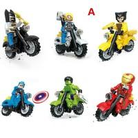 Langka Murah - 12PC lego kw Motor-motoran The Avengers
