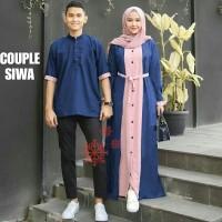 Baju Busana Muslim Gamis Couple Pria Wanita Siwa