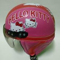 Helm retro helm anak perempuan karakter hello kitty helm motor helm an