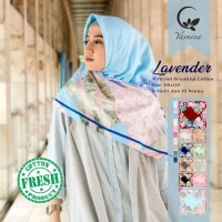 Hijab Segi Empat Kerudung Jilbab Yasmina Lavender Catton 1