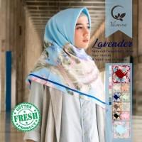 Hijab Segi Empat Kerudung Jilbab Yasmina Lavender Catton 3