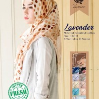 Hijab Segi Empat Kerudung Jilbab Yasmina Lavender Catton 2