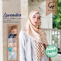Hijab Segi Empat Kerudung Jilbab Yasmina Lavender Catton 4