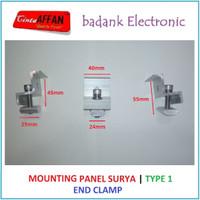 [Type 1] Mounting Bracket Solar Panel Surya - End Clamp