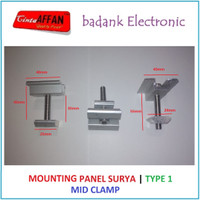 [Type 1] Mounting Bracket Solar Panel Surya - Mid Clamp