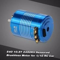 540 10.5T 3450KV Sensored Brushless Motor untuk 1/10 RC Mobil Truk