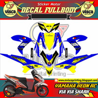 STICKER MOTOR DECAL MOTOR YAMAHA XEON RC VIA VIA SHARK