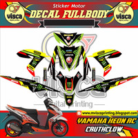 DECAL MOTOR STICKER MOTOR YAMAHA XEON RC CRUTCHLOW